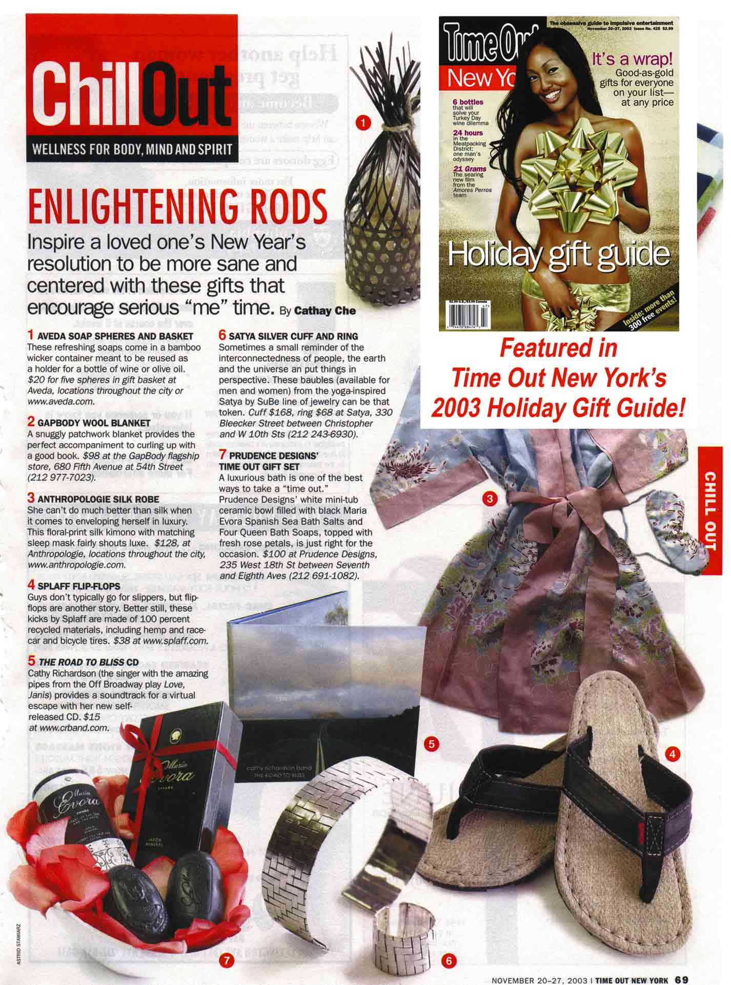 scan of Time Out NY article
